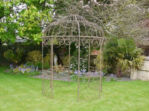 Chelsea Metal Natural Brown Gazebo